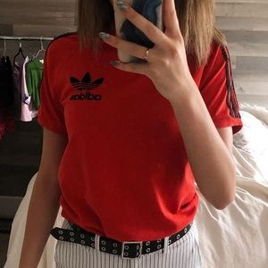 Red adidas T-shirt size small